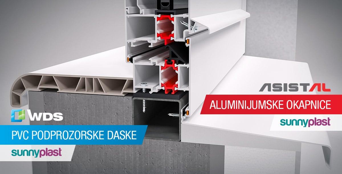 Aluminijumske okapnice i PVC podprozorske daske