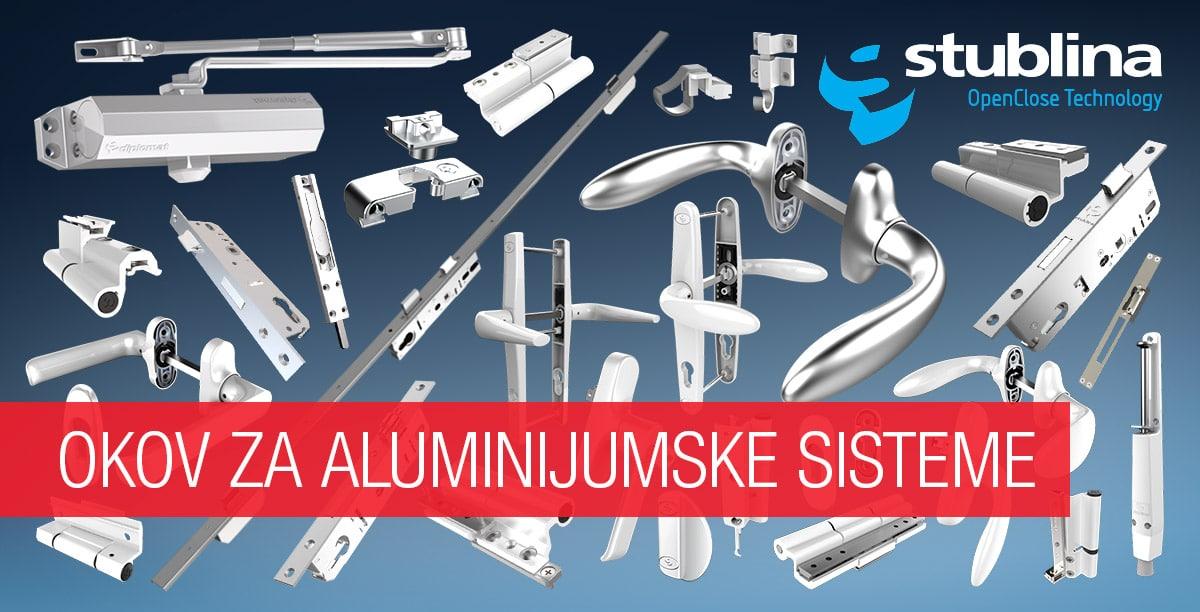 Stublina okov za aluminijumske sisteme