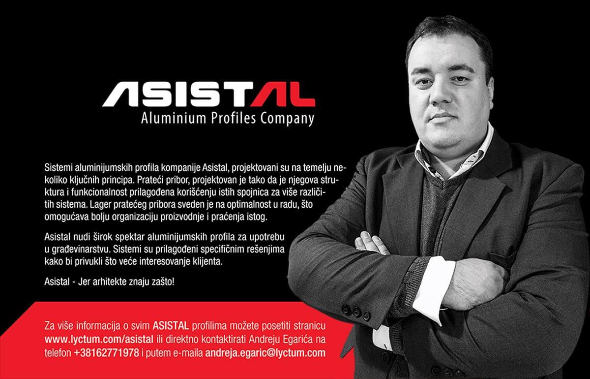 Više informacija o Asistal aluminijumskim sistemima