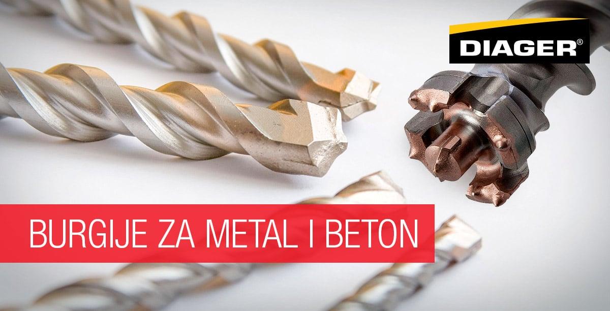Diager burgije za metal i beton