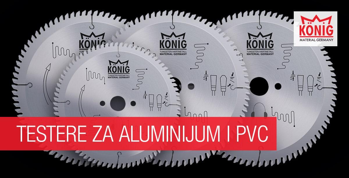 König testere za aluminijum i PVC