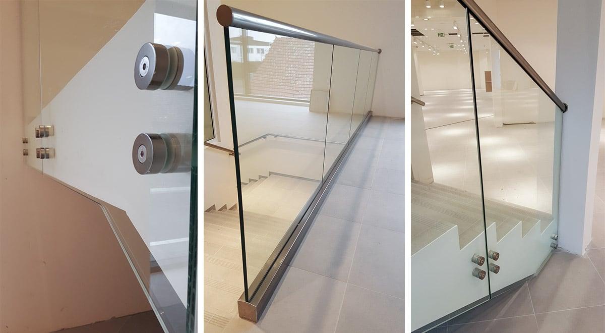 Staklene ograde Elegant - stranično tačkasti sistem AL50 i nasadni sistem C50 - H&M Subotica