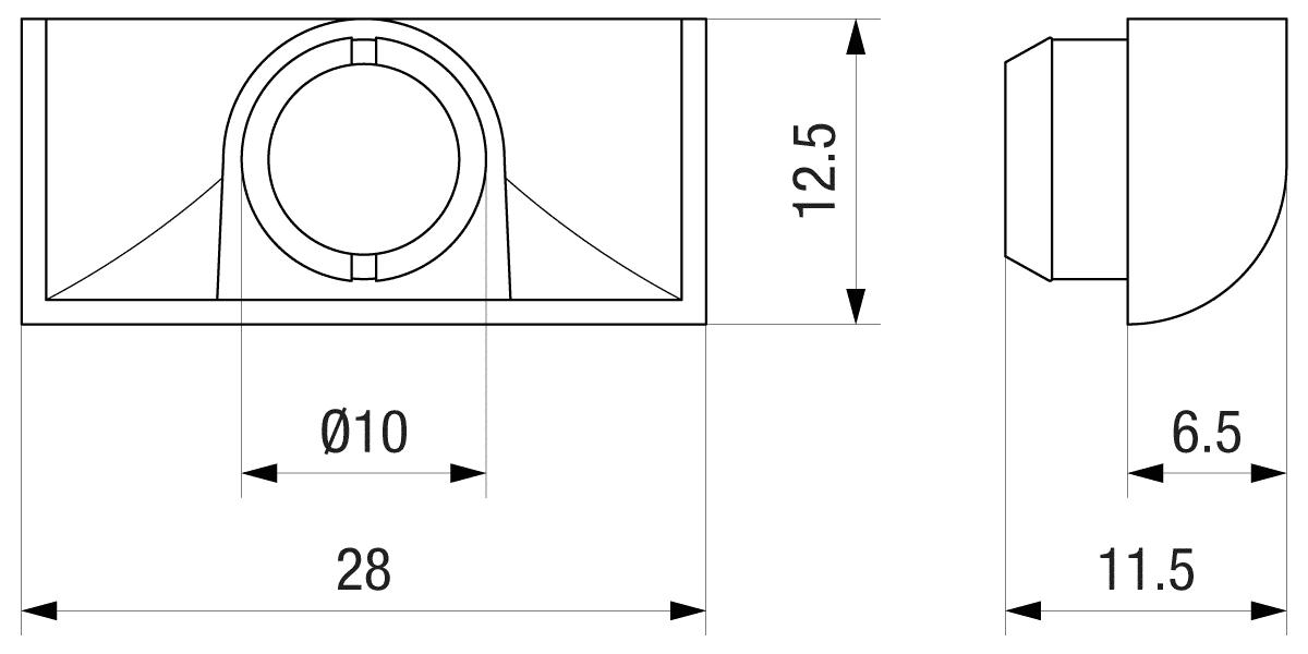 Tehnički crtež kondenz čepova