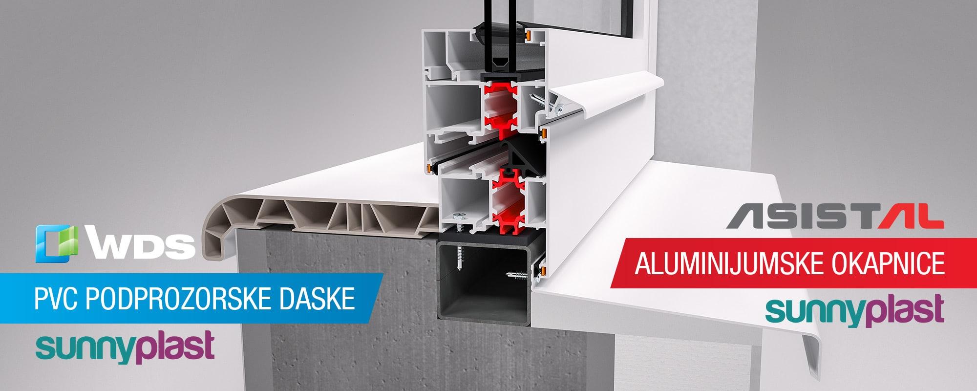 PVC podprozorske daske i aluminijumske okapnice