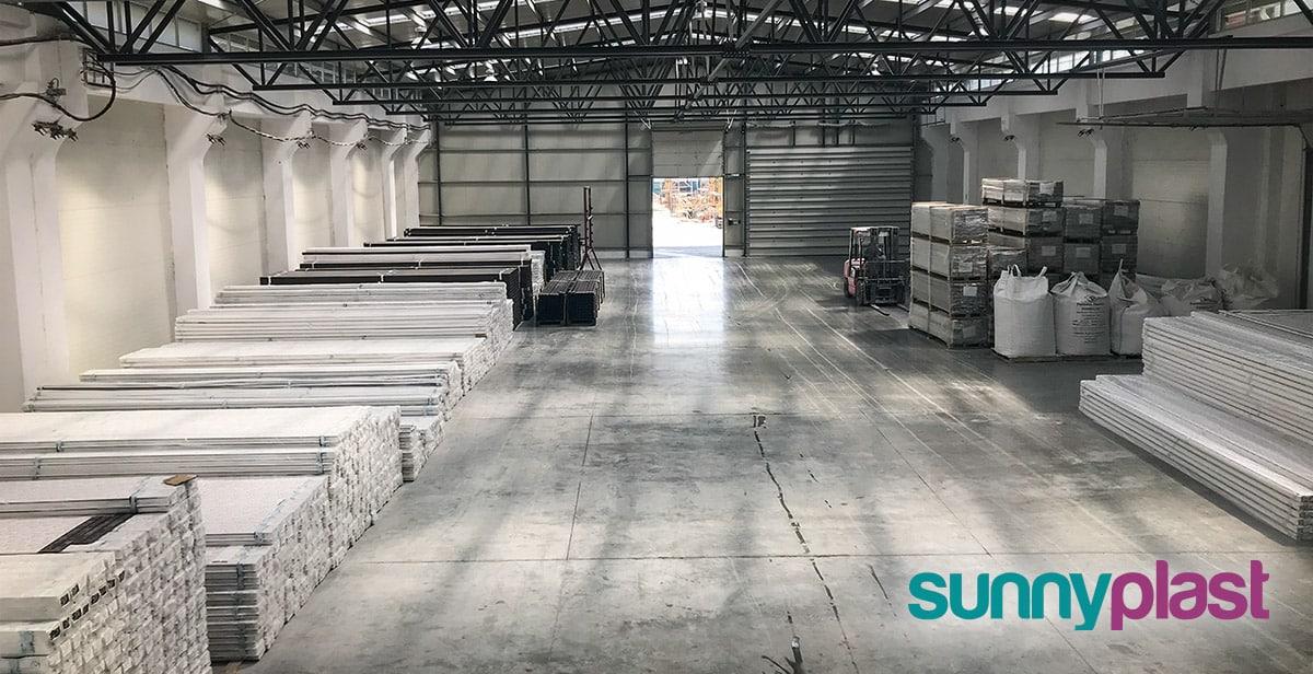 Sunny Plast lager u fabrici