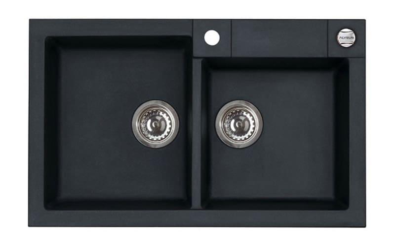 Kuhinjska sudopera Alveus Rock 90 granit crna G91