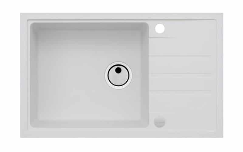 Kuhinjska sudopera Alveus Intermezzo 130 granit bela G11