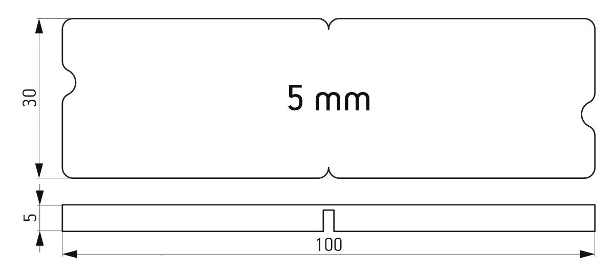 Lomljiva podloška 30x100x5 mm