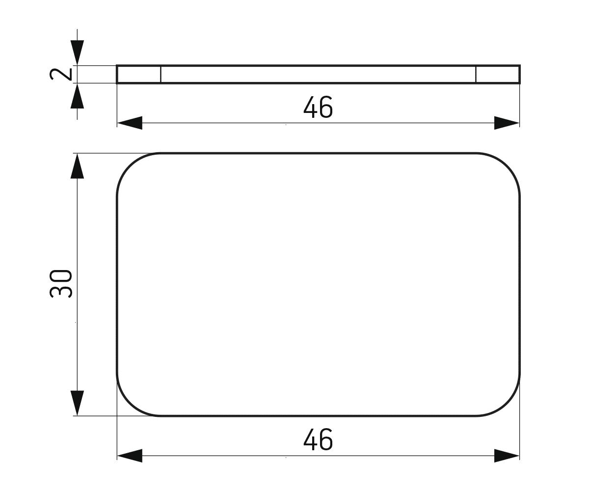 Podloška 30x46x2 mm