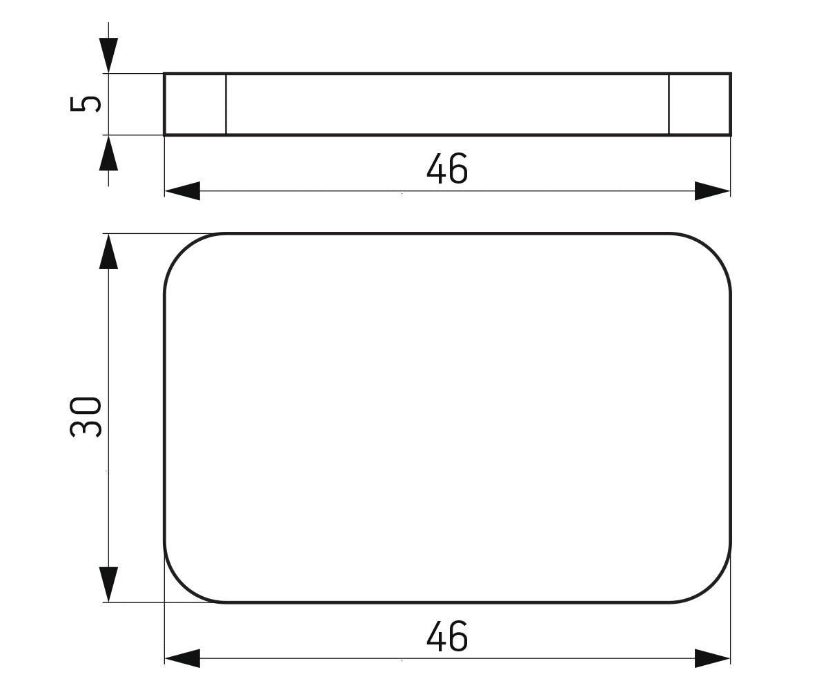 Podloška 30x46x5 mm