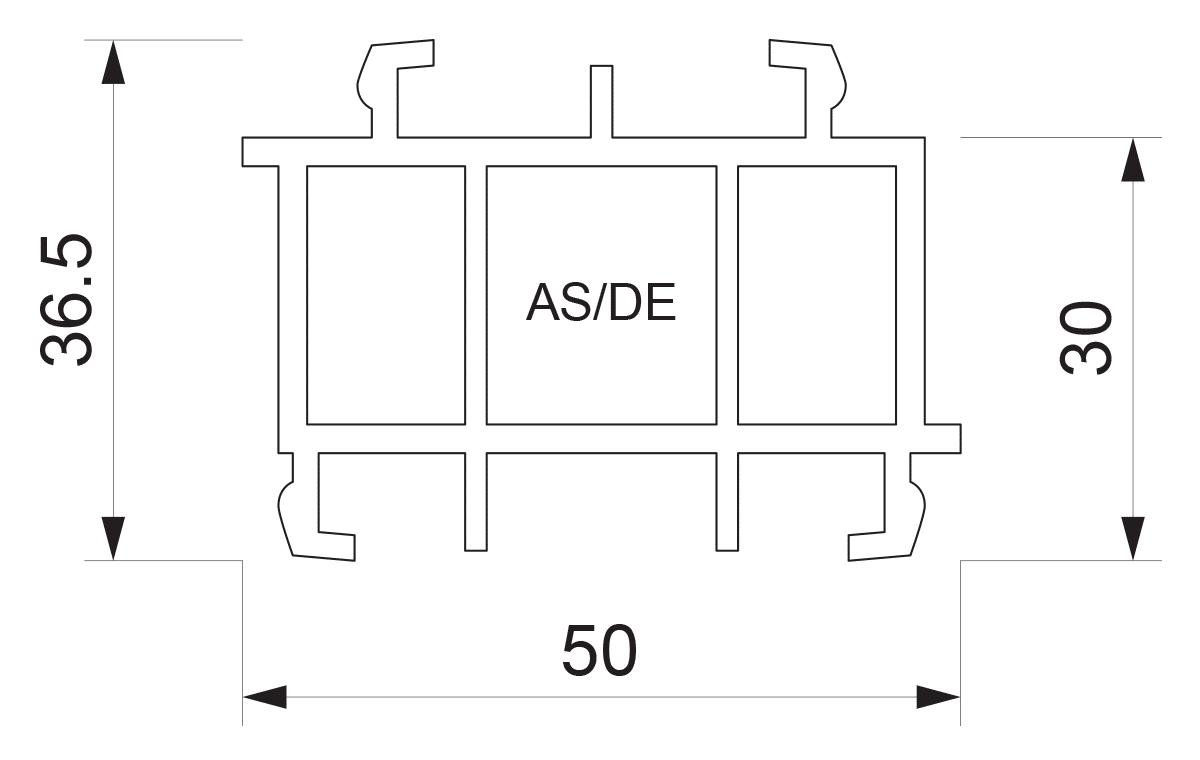 Podštok za PVC sisteme AS/DE