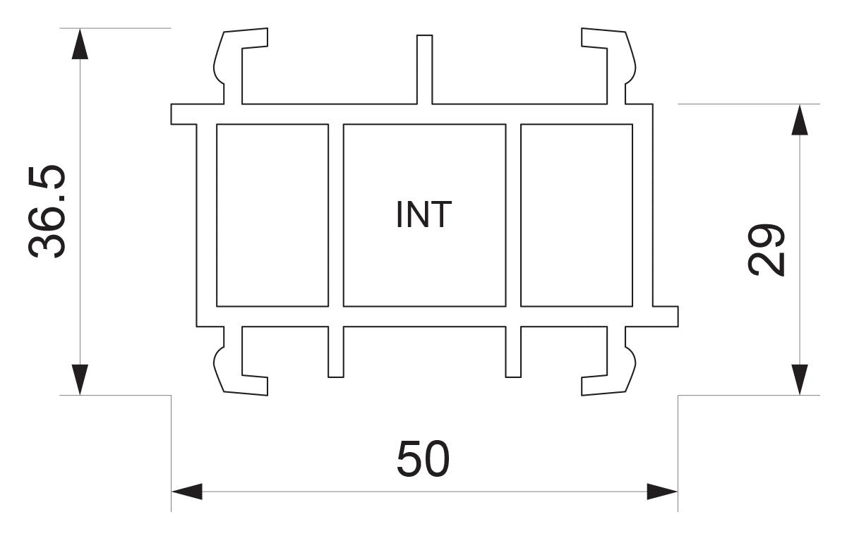 Podštok za PVC sisteme INT