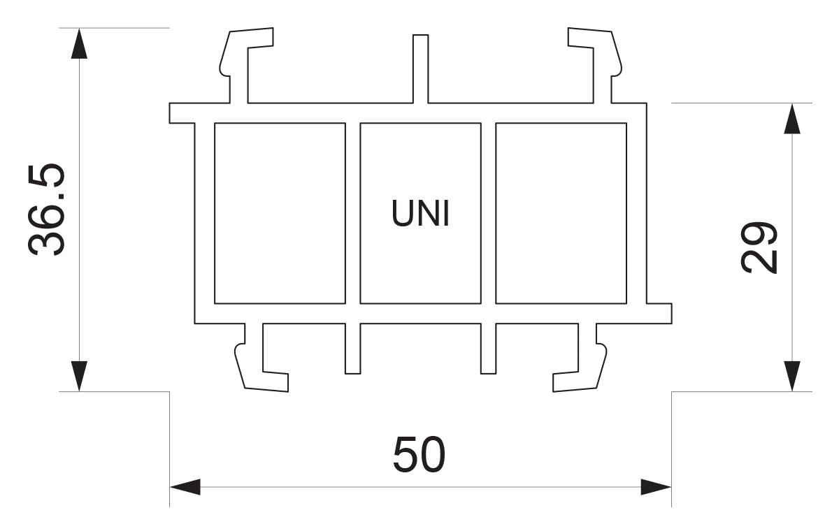 Podštok za PVC sisteme UNI