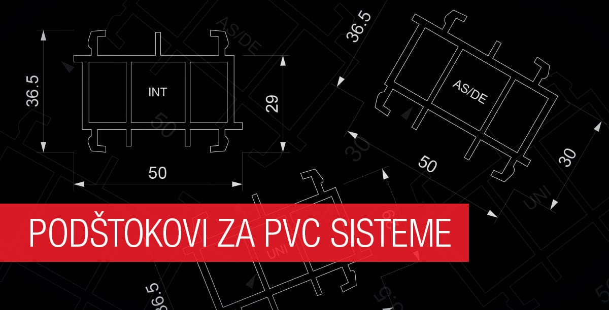 Podštokovi za PVC sisteme