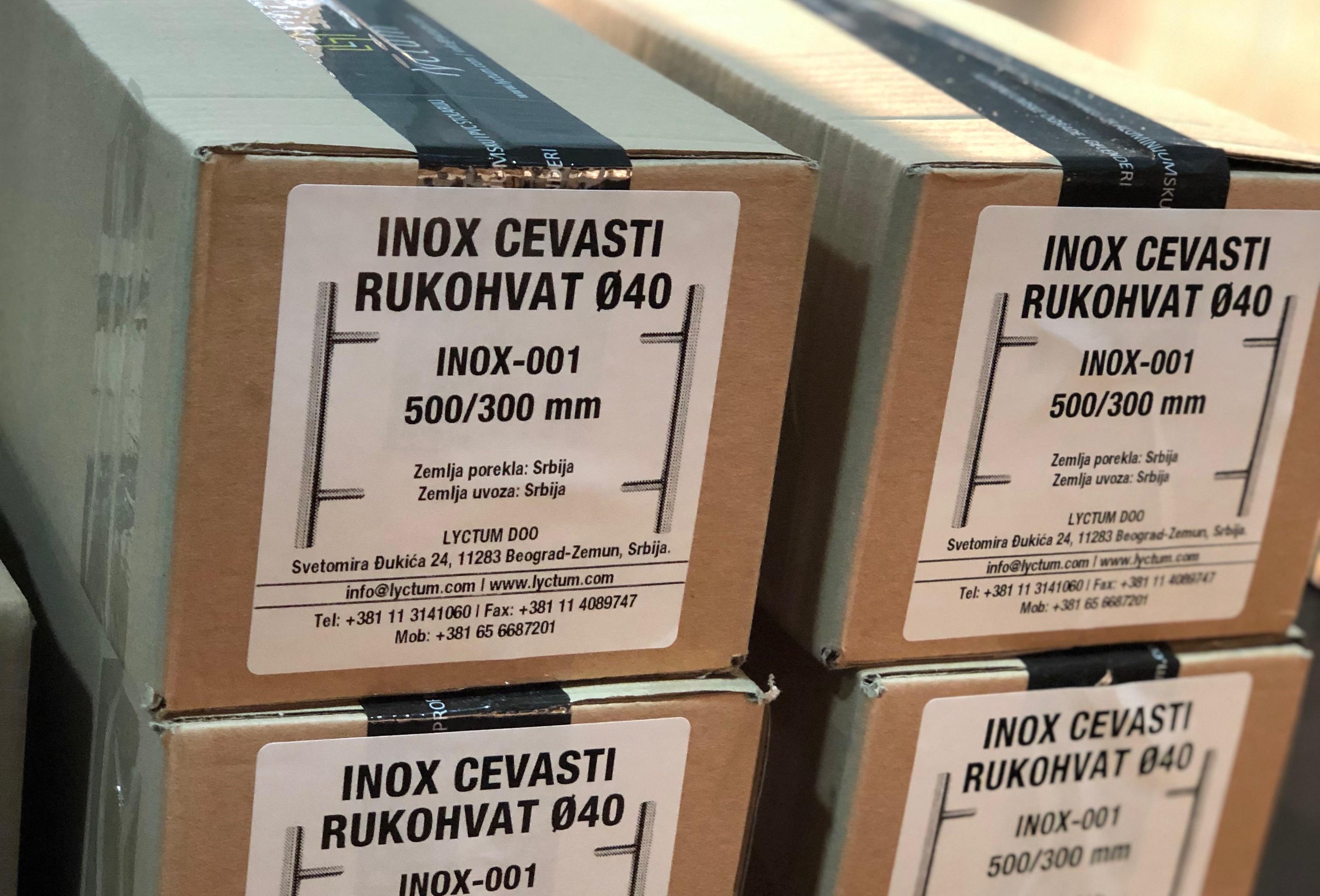 Inox rukohvati Lyctum