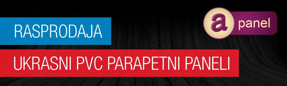 Rasprodaja ukrasnih PVC parapetnih panela
