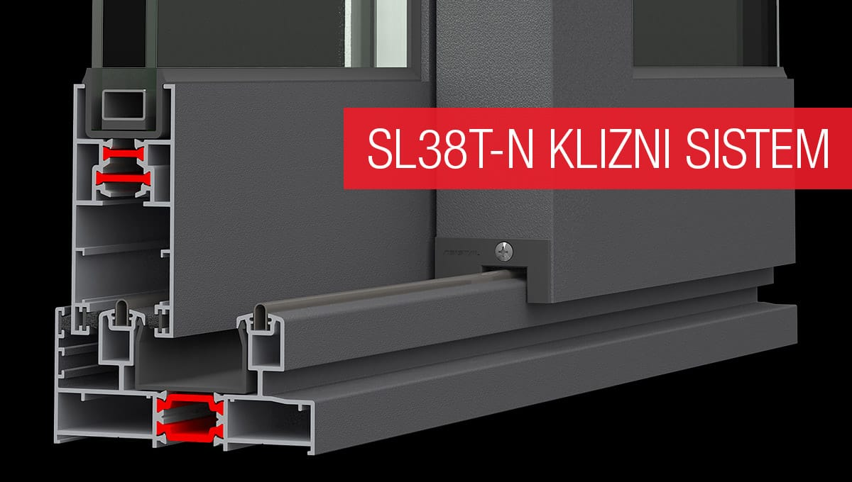 Asistal SL38T-N klizni sistem sa termo prekidom
