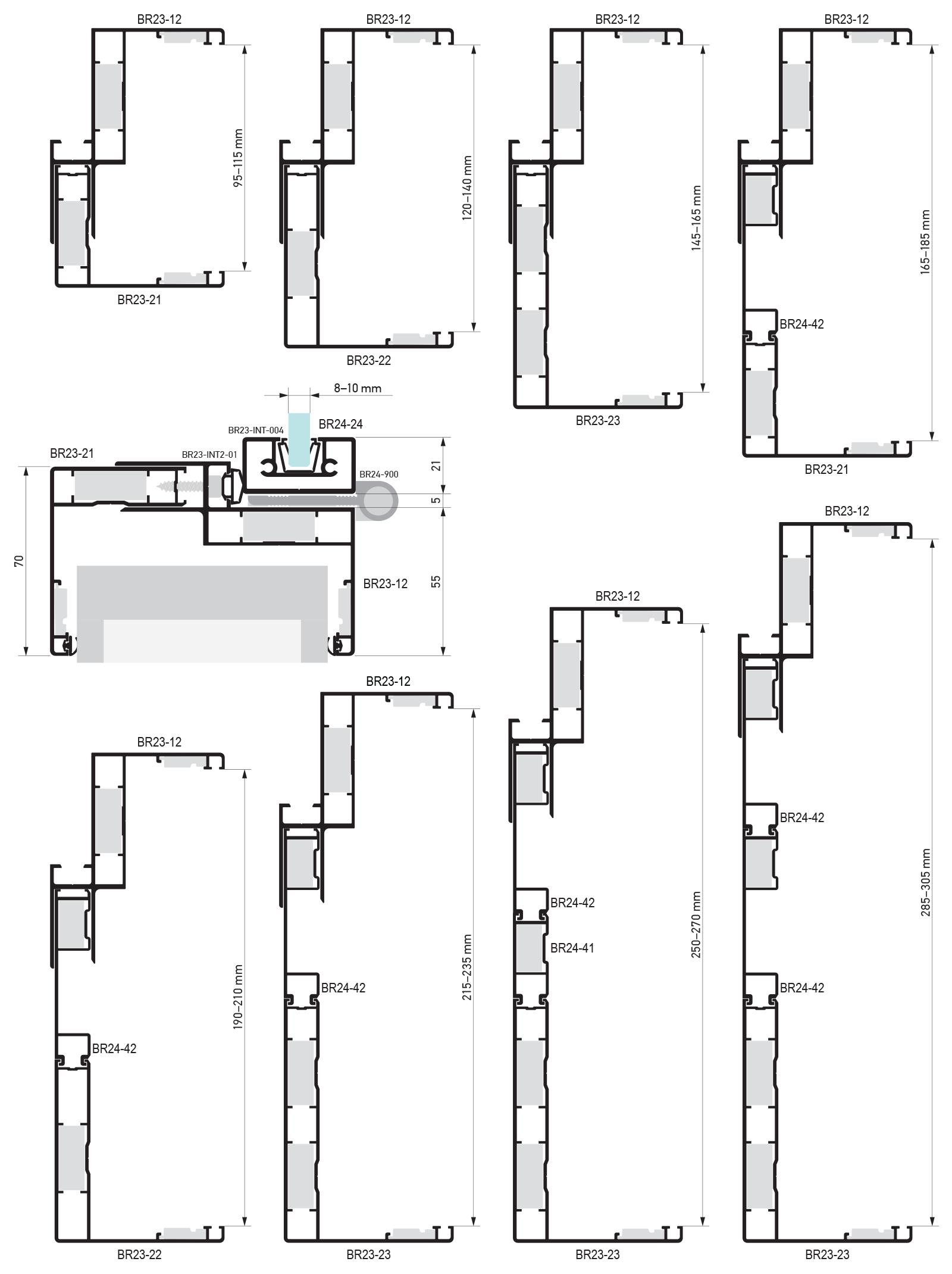 Dimenzije Asistal Interno vrata