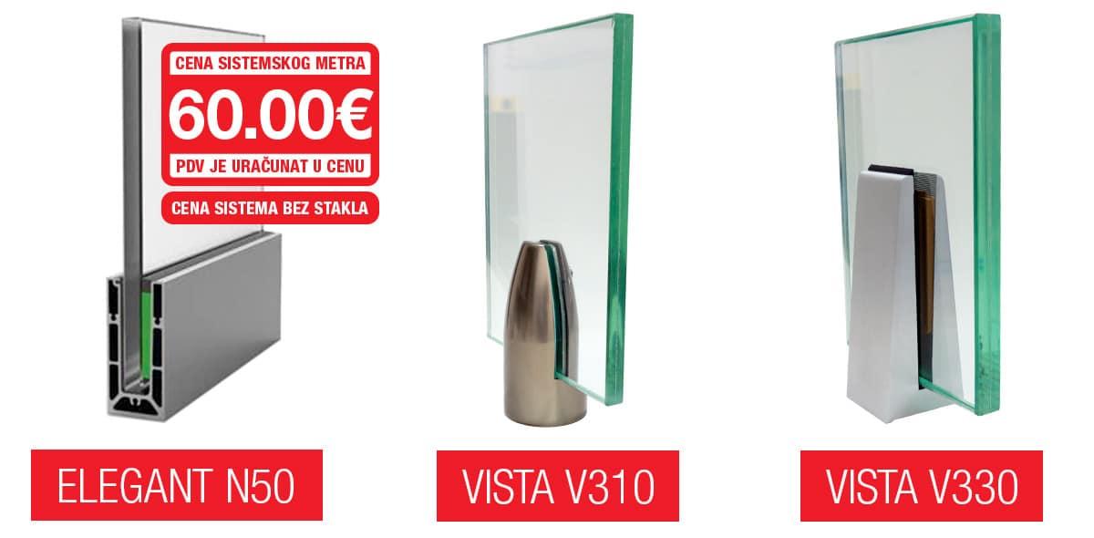 Elegant N50, Vista Bullet V310 i Vista V330