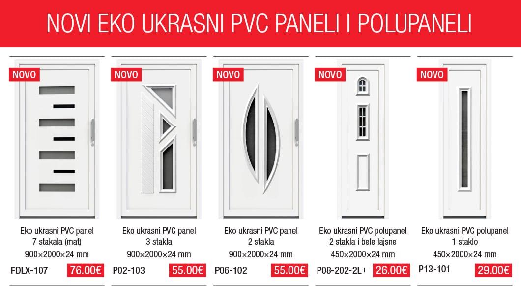 Novi Eko ukrasni PVC paneli i polupaneli