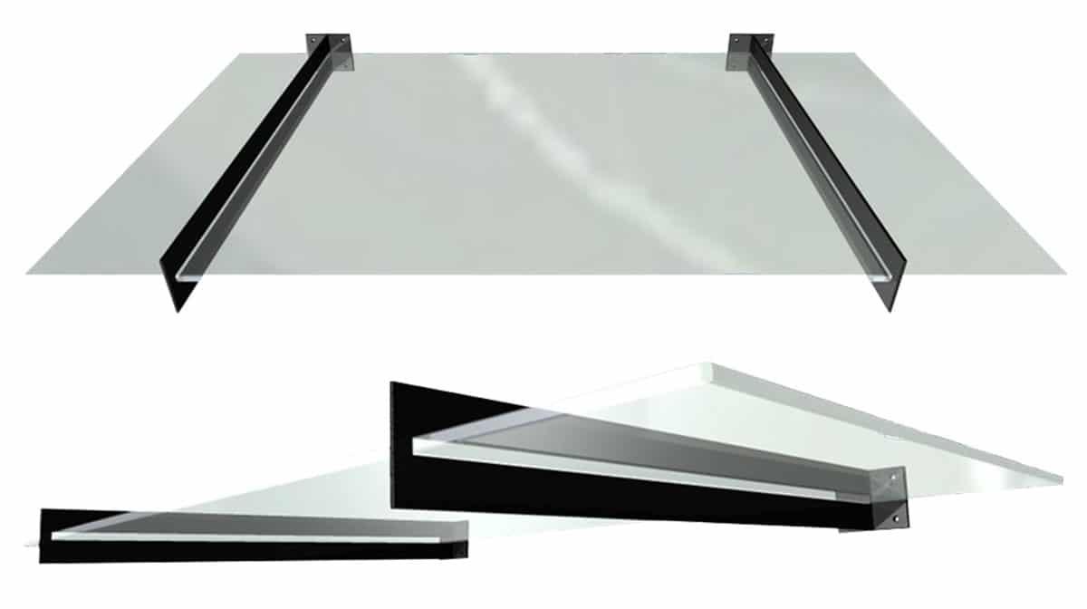 Inox nadstrešnica - model 106