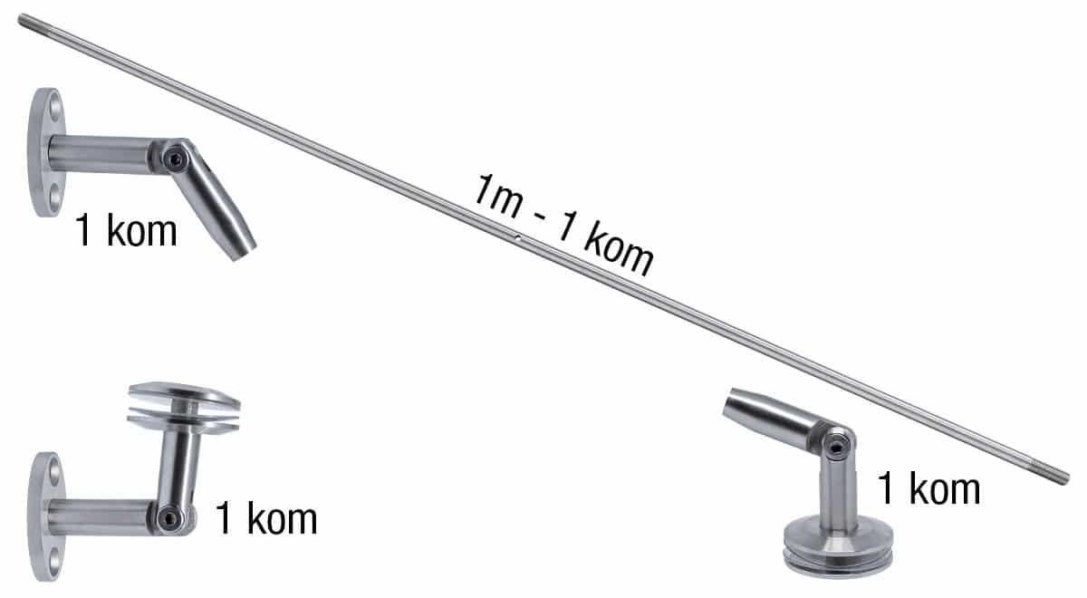 Inox nadstrešnica - set za model 104