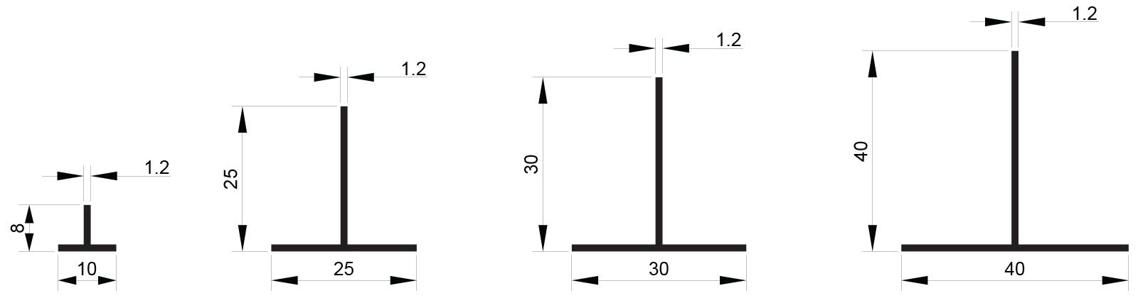 Crteži T profila