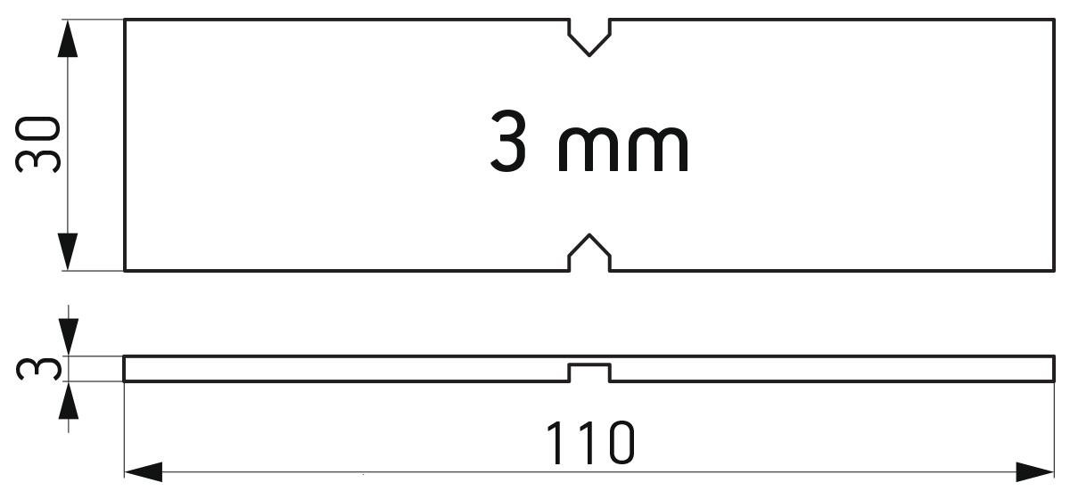 Lomljiva PVC podloška 30x110x3 mm za kajlovanje stakla