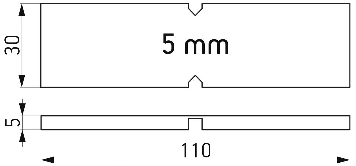 Lomljiva PVC podloška 30x110x5 mm za kajlovanje stakla