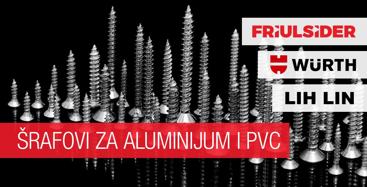 Šrafovi za aluminijum i PVC