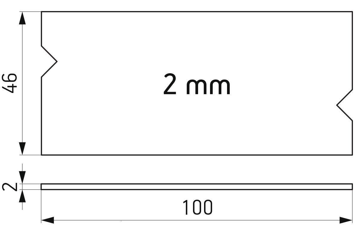 PVC podloška 46x100x2 mm za kajlovanje stakla