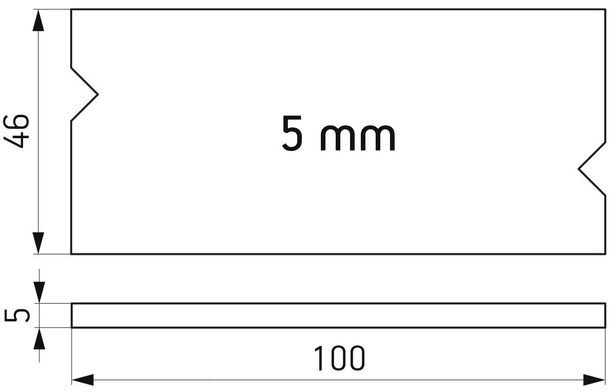 PVC podloška 46x100x5 mm za kajlovanje stakla