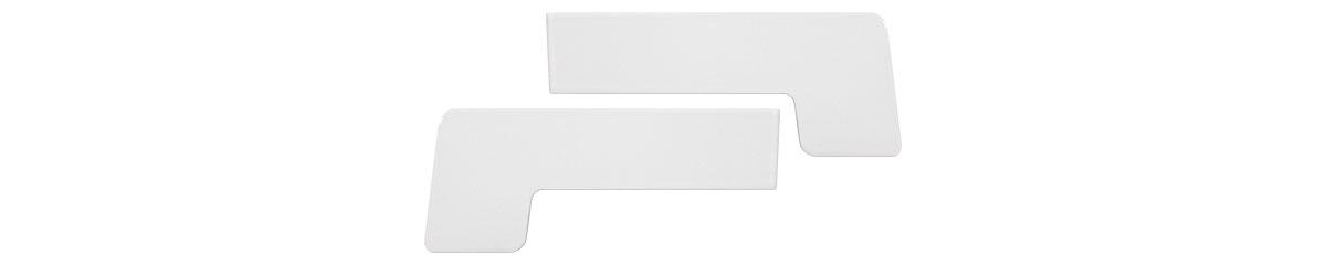 CEP-9016-100MM - Beli aluminijumski čep za okapnicu 100 mm