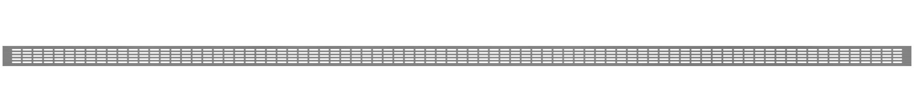 VRS-009 - Ventilaciona rešetka 66×2980 mm