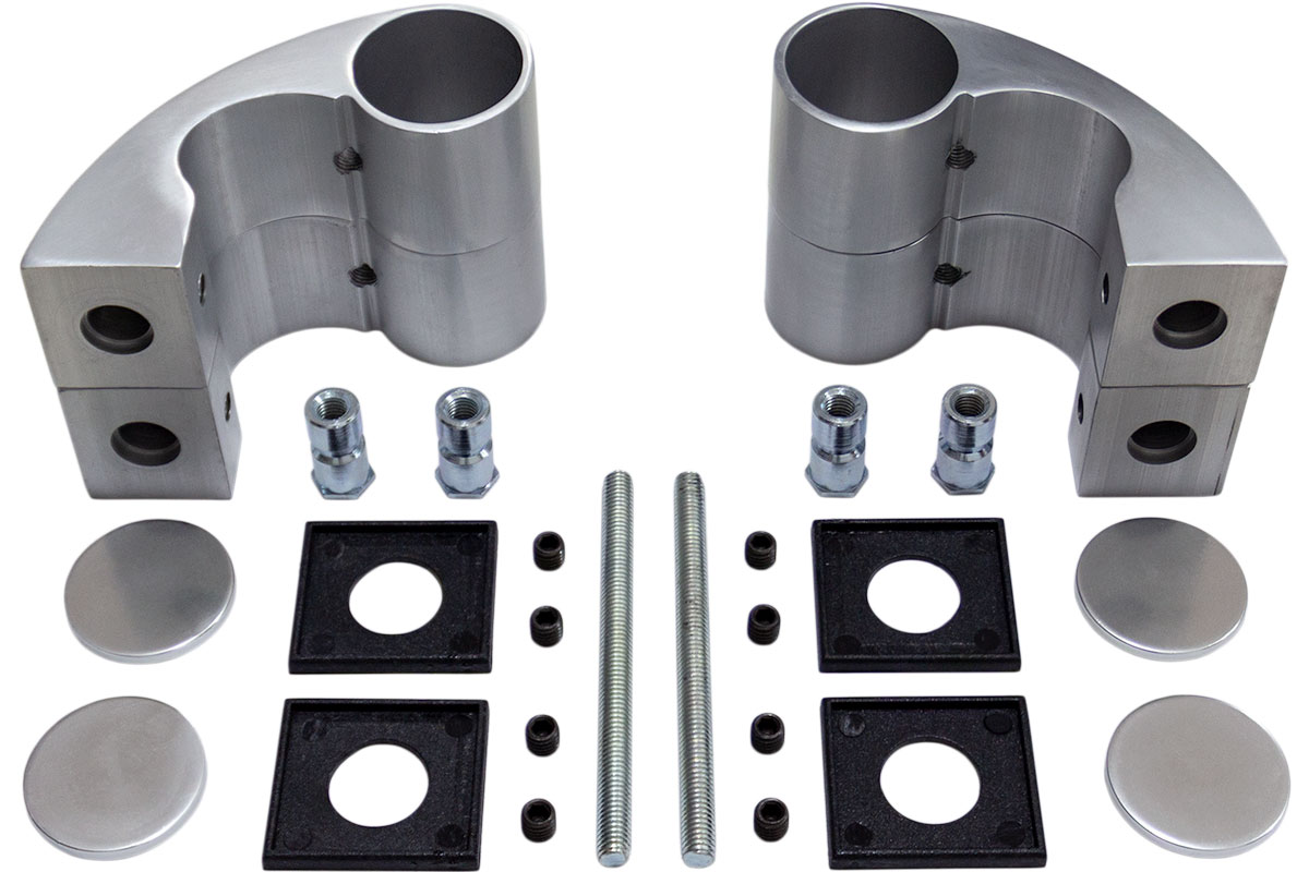 NT 4037 - Silver set držača za rukohvat Ø40
