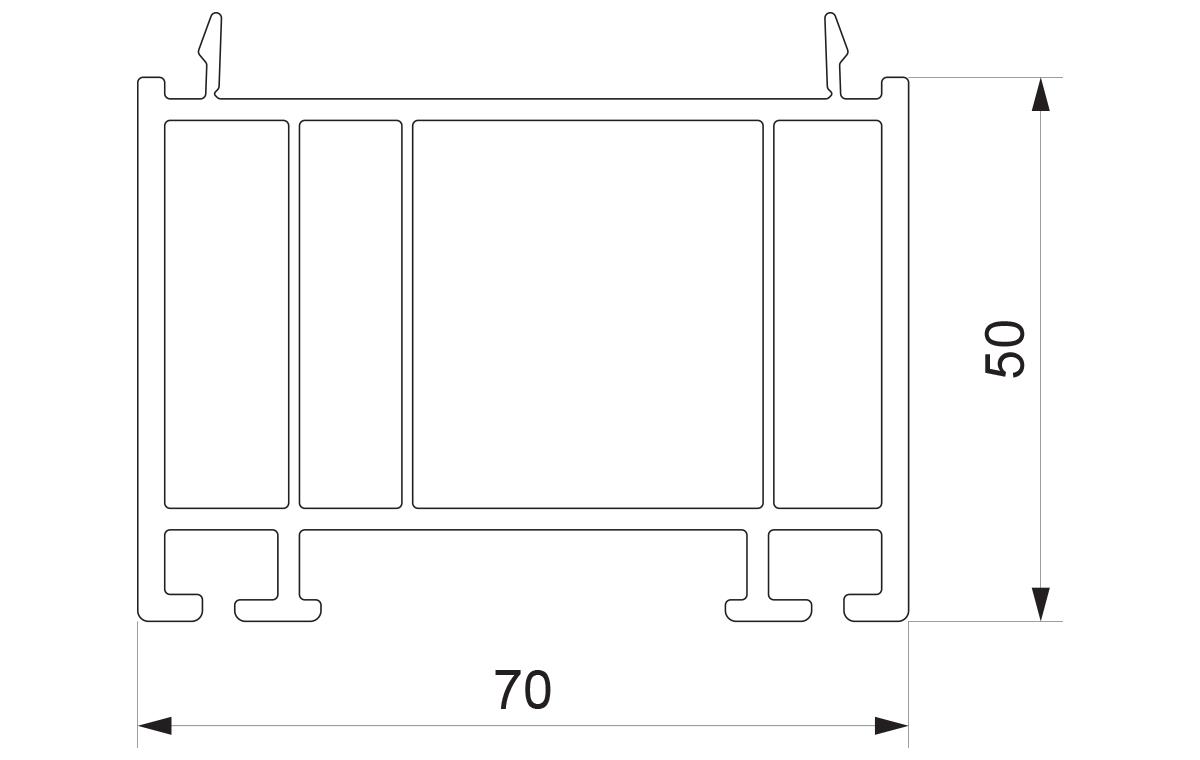 PLS 02 - Podštok 70x50 za prag