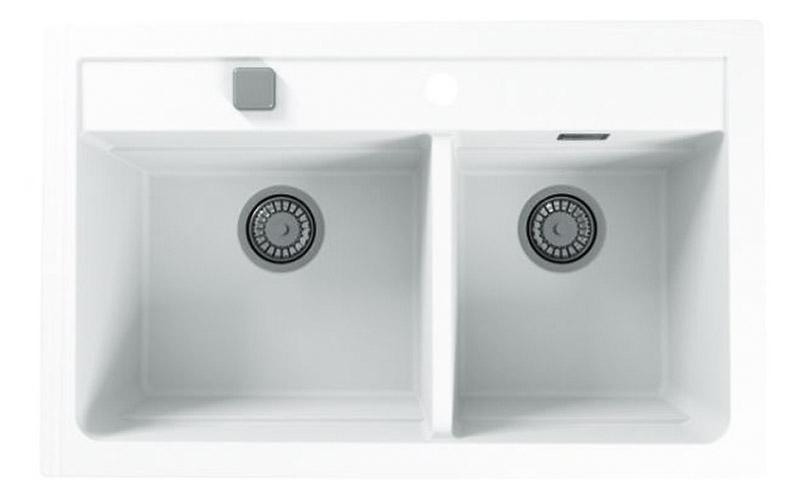 Kuhinjska sudopera Alveus Atrox 50 granit bela G11