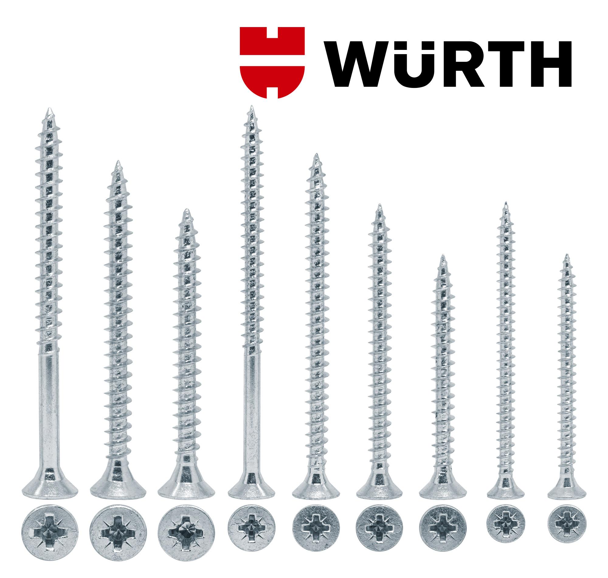 Würth šrafovi za spojnice T prečke i čepove lažne prečke