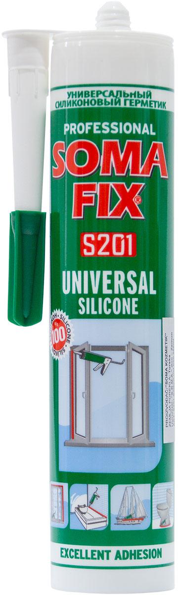 SFUSW-280 Somafix beli univerzalni silikon S201 280 ml