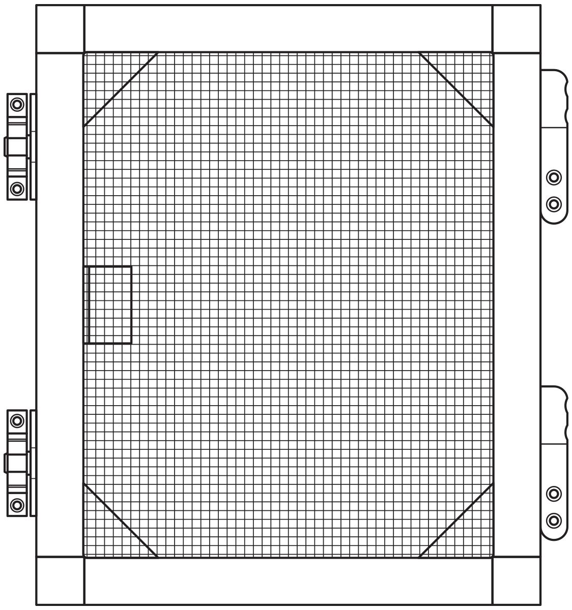 Alu spoljašnji fiksni komarnik 17 mm