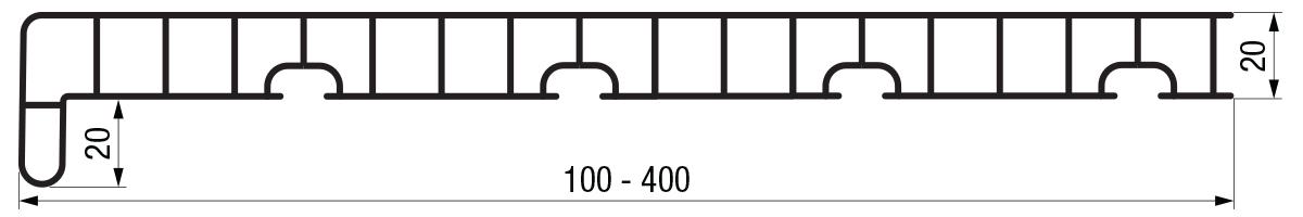 Crtež eko podprozorske daske