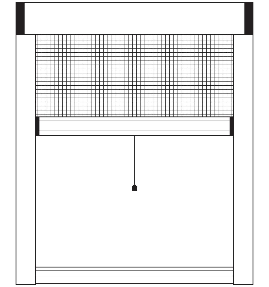 Rolo komarnik sa završnim profilom