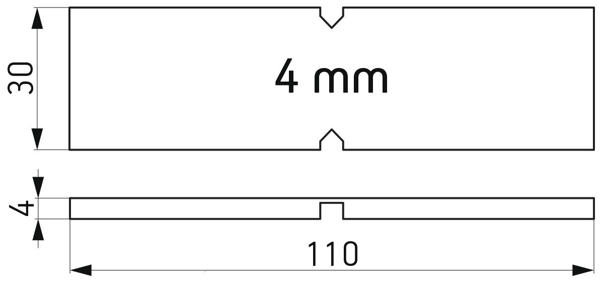 Lomljiva PVC podloška 30x110x4 mm za kajlovanje stakla