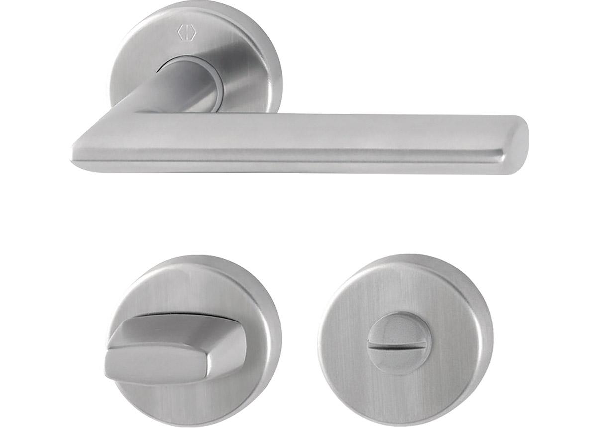 H3058321 - Hoppe Stockholm kvaka za vrata sa WC rozetnama - Inox mat
