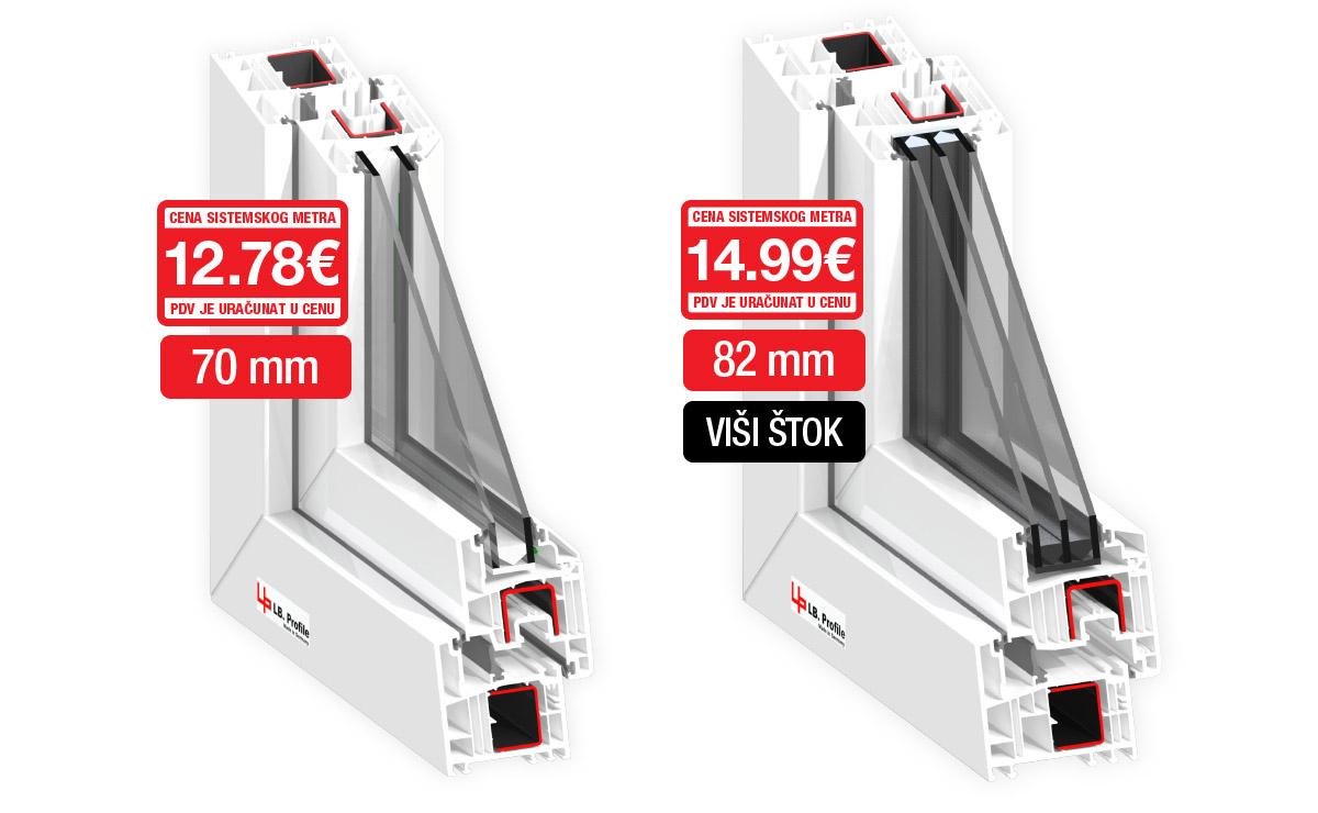 LB.Profile - cena sistemskog metra