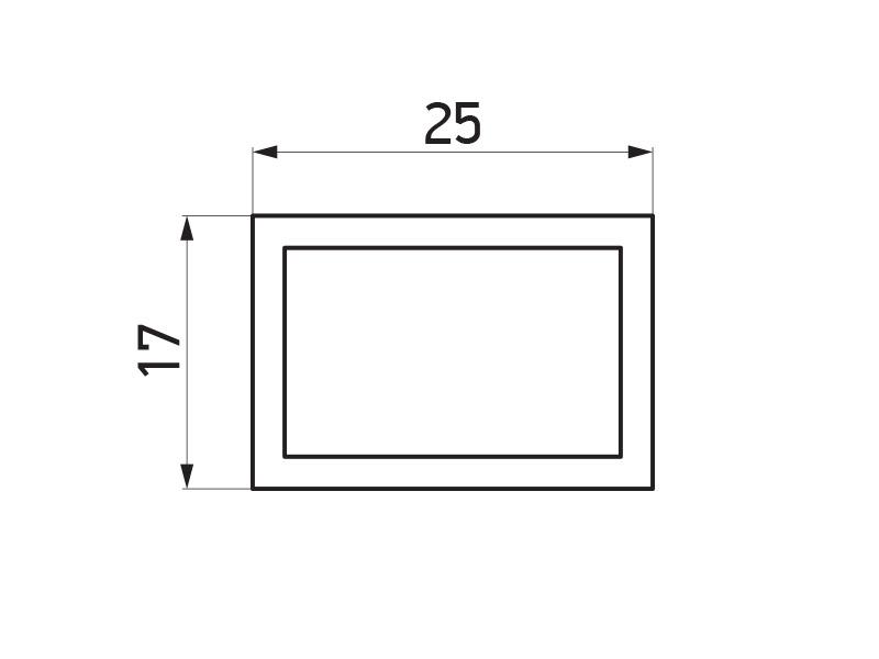 PR-2776 - F40 Classic horizontalni noseći profil - 6 m