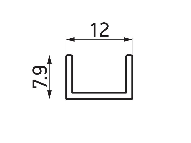 PR-5683 - F40 Classic pokrifni profil stuba 40x40 mm - 6 m
