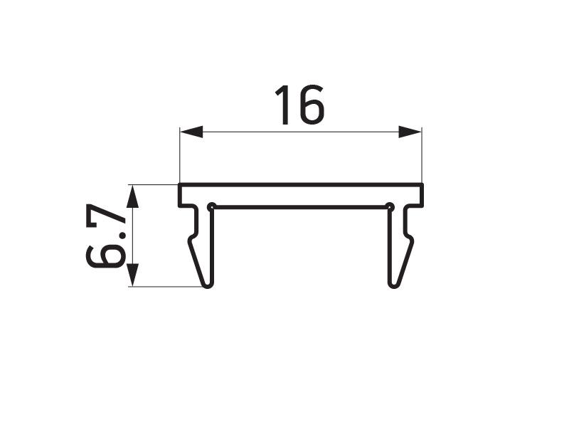 PR-9459 - F60 Louver pokrivni profil za stub 60x60 mm - 6 m