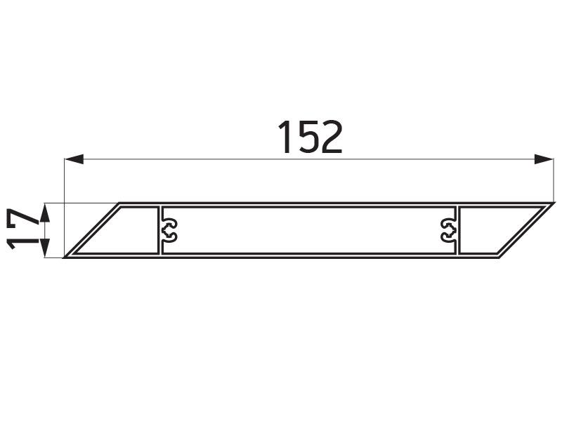 PR-9463 - F100 lamela 152x17 mm - 6 m
