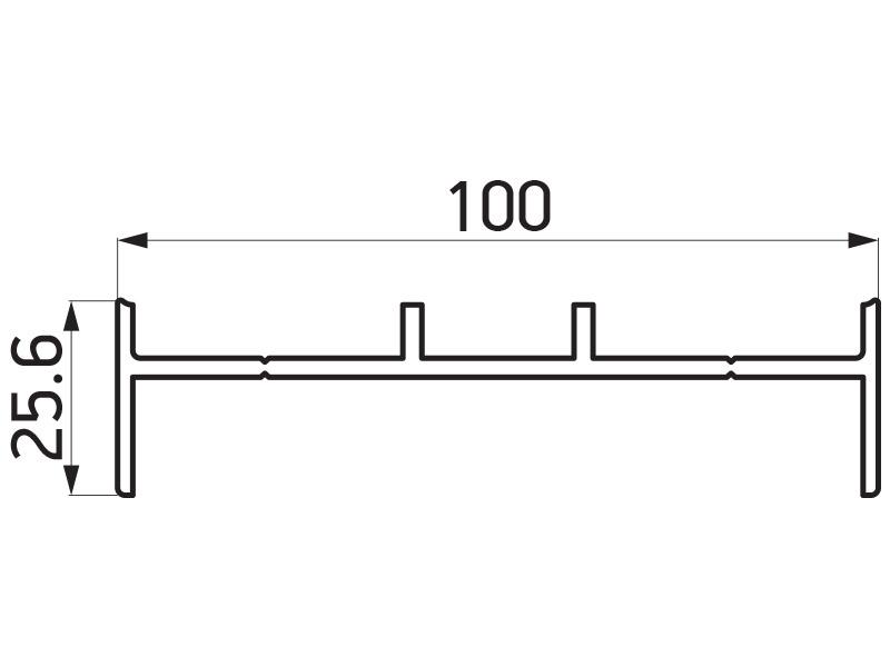 PR-9464 - F100 adapter 100x25.6 mm - 6 m